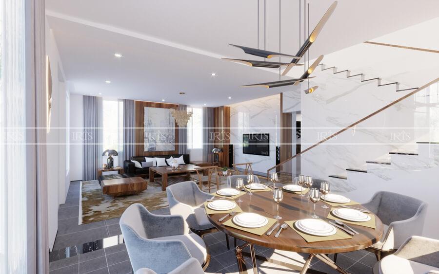 thiết kế nội thất biệt thự gỗ 3