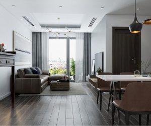 Thiết kế nội thất chung cư Ngoại Giao Đoàn – Nét đẹp hiện đại