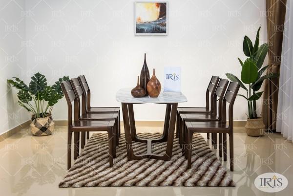 bàn ăn gỗ concorde ghế aki