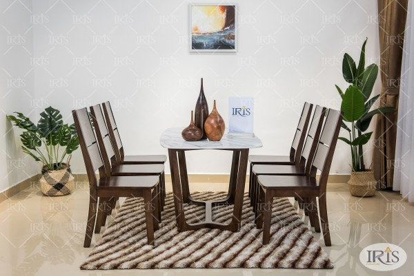 bàn ăn gỗ ghế chin