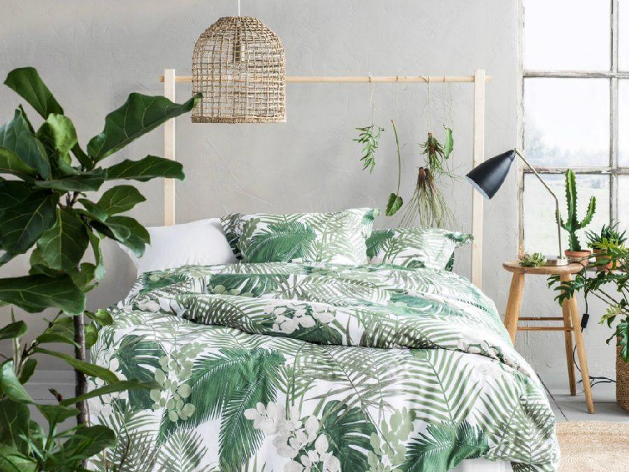 phòng ngủ tông xanh