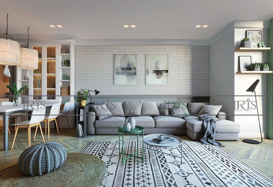 thiết kế nội thất phòng khách Bắc Âu 4