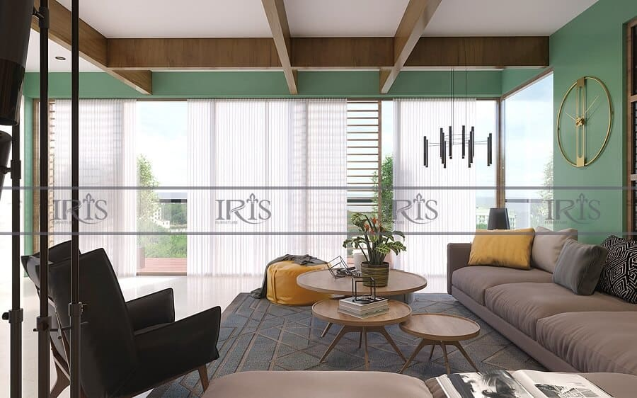 thiết kế nội thất phòng khách Retro 7