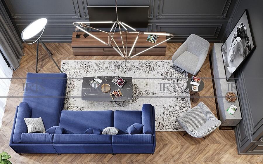 phong cách phòng khách retro 12