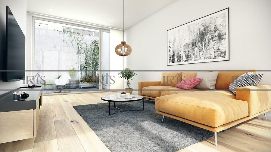 thiết kế nội thất phòng khách Retro 15