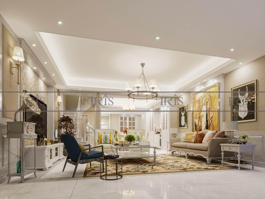 thiết kế nội thất phòng khách nhà phố 14