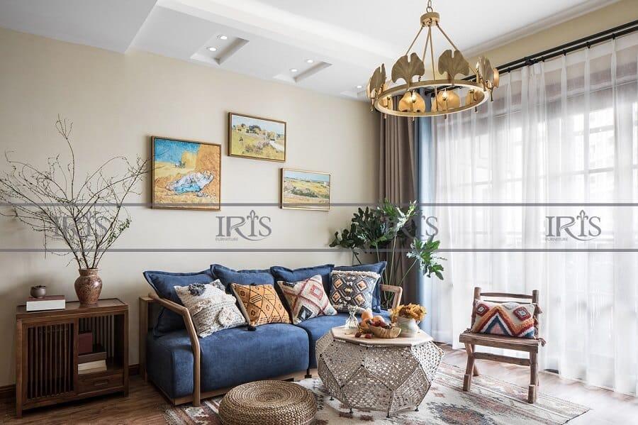 phong cách phòng khách vintage 1
