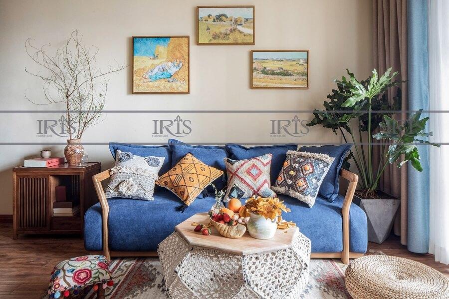 phong cách phòng khách vintage 2