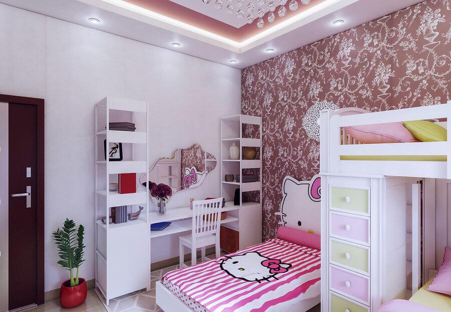 thiết kế nội thất trẻ em phòng bé gái