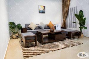 Kích thước sofa gỗ tiêu chuẩn phù hợp với phòng khách