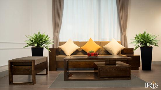 kích thước sofa gỗ