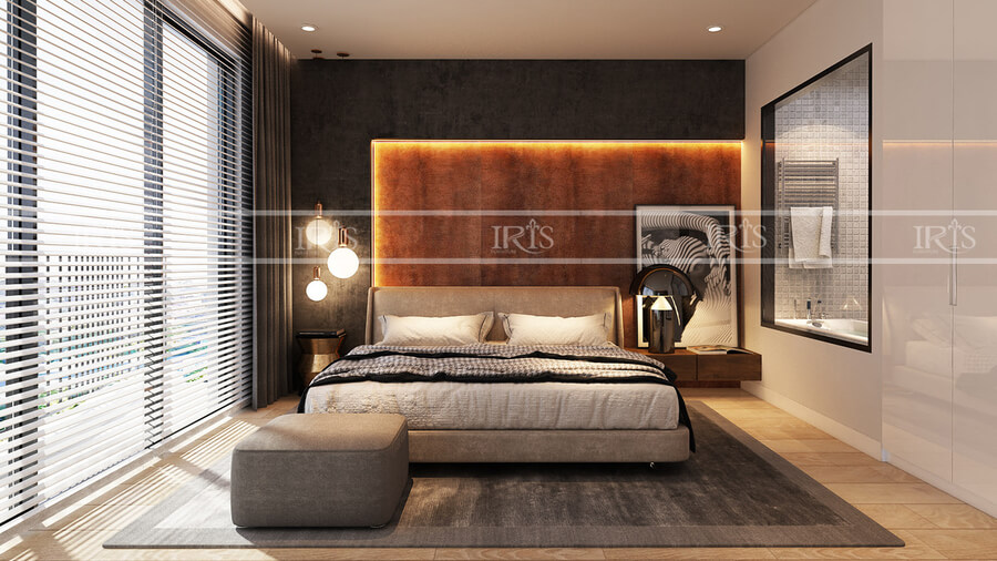 thiết kế nội thất biệt thự phòng ngủ 5