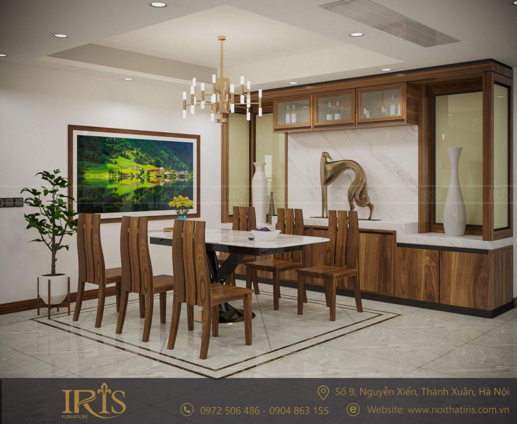 mẫu bàn ghế ăn chất liệu gỗ tự nhiên