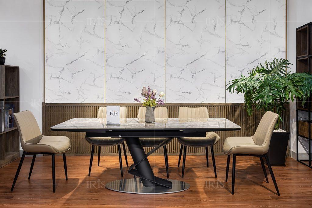 bàn ăn mặt đá ceramic