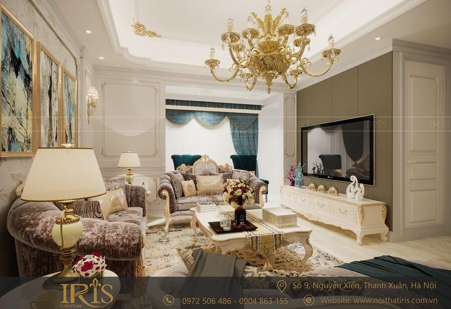 Thiết kế nội thất chung cư Tân cổ điển 1