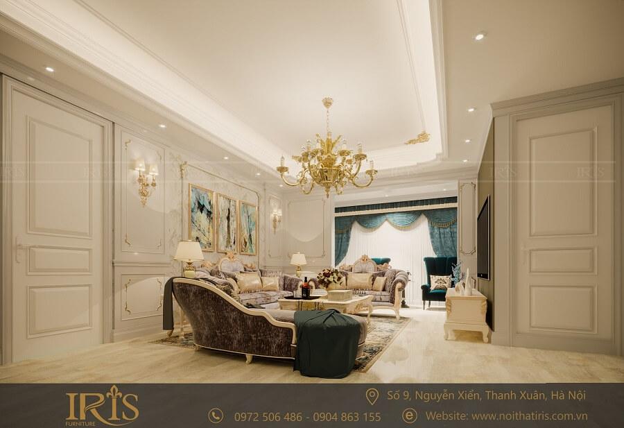 Thiết kế nội thất chung cư Tân cổ điển 4