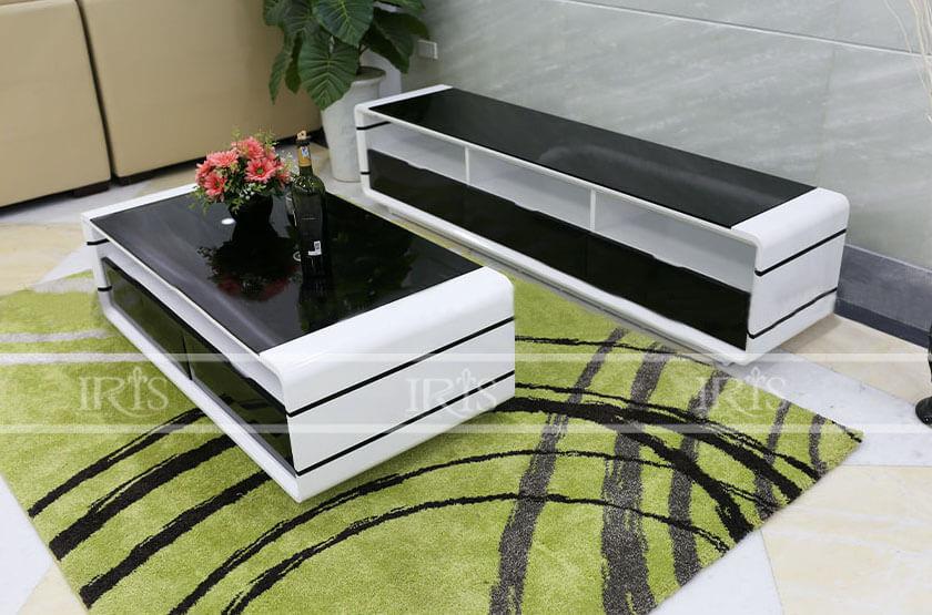 Bàn Sofa gỗ kính - 220 - 1