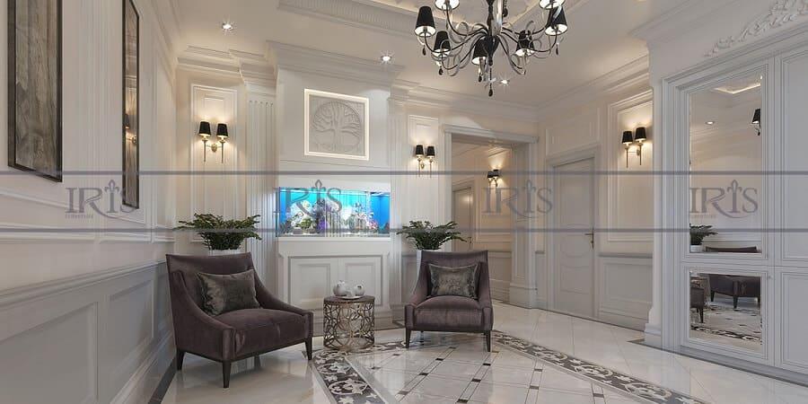 thiết kế nội thất phòng khách tân cổ điển 1