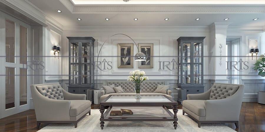 phong cách phòng khách tân cổ điển 5