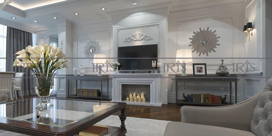phong cách phòng khách tân cổ điển 7