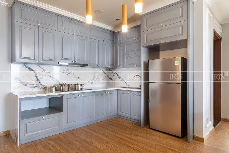 Thiết kế nội thất Phòng bếp Bán cổ điển 1