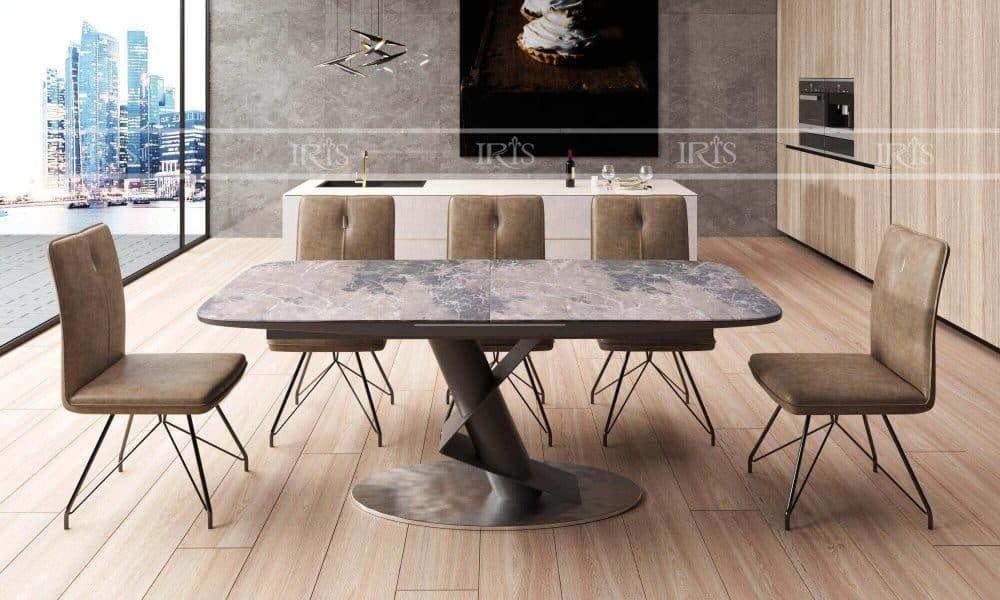 bộ bàn ăn thông minh mặt đá