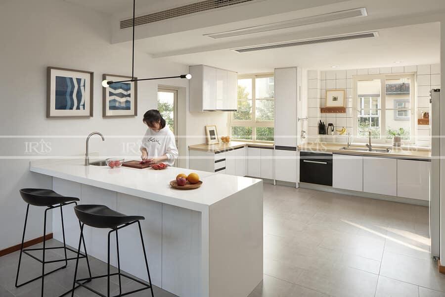 Thiết kế nội thất Phòng bếp Bàn đảo 4