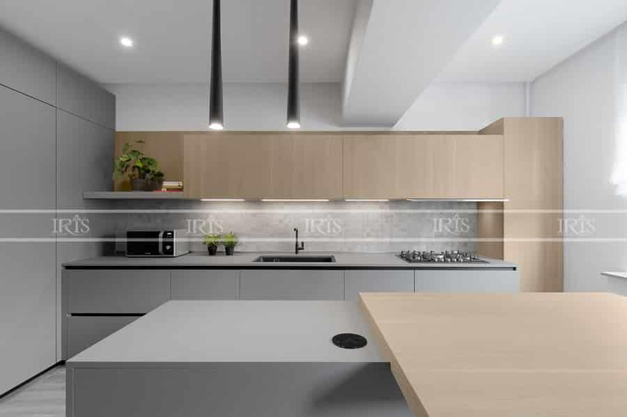 Thiết kế nội thất Phòng bếp chu I 01
