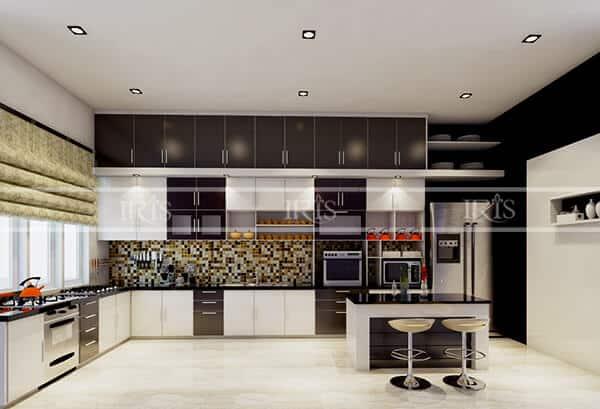 Thiết kế nội thất Phòng bếp chữ L 3