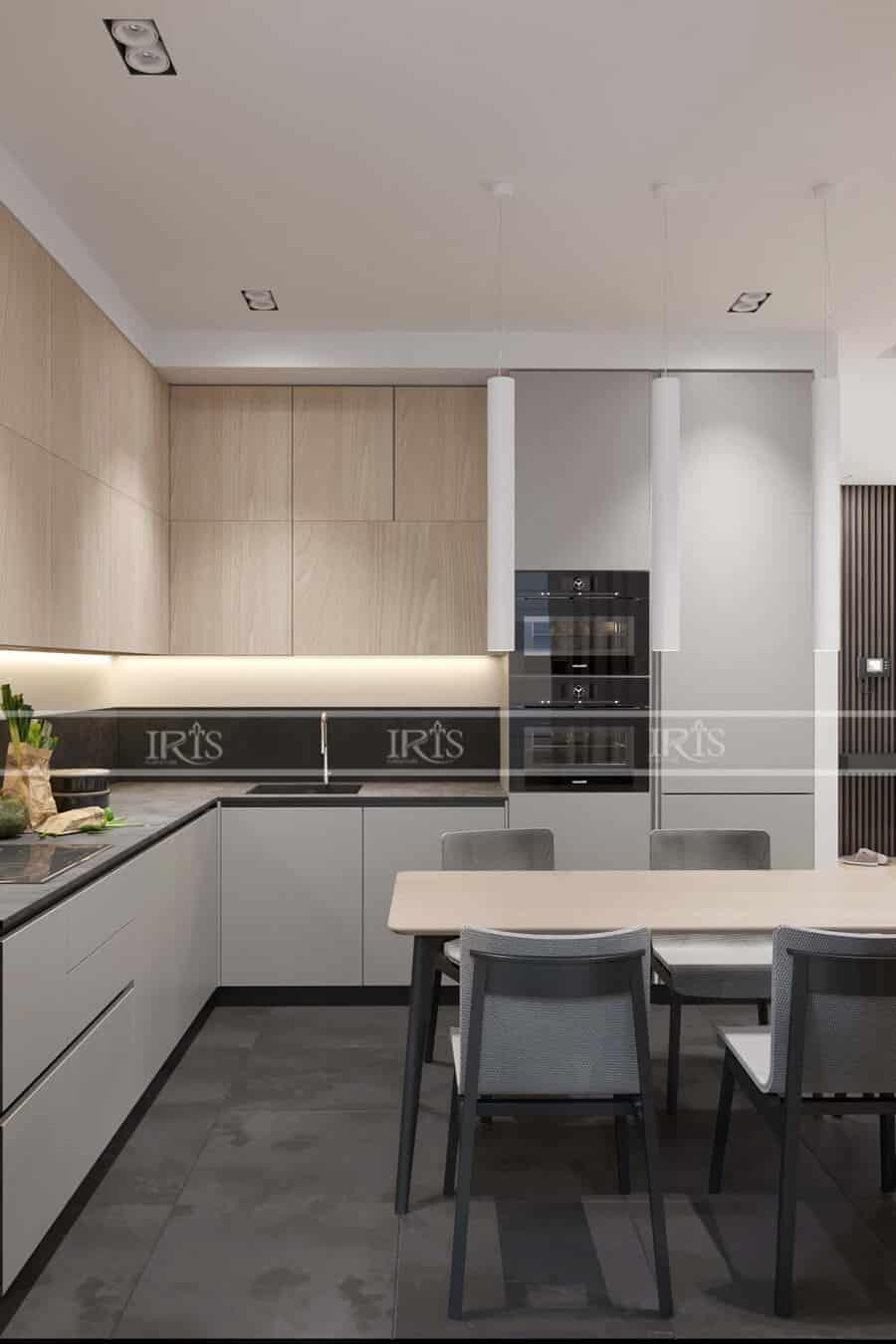 Thiết kế nội thất Phòng bếp chữ L 6