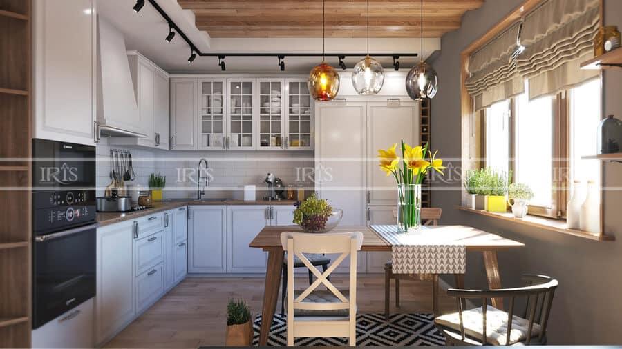 phòng bếp gỗ