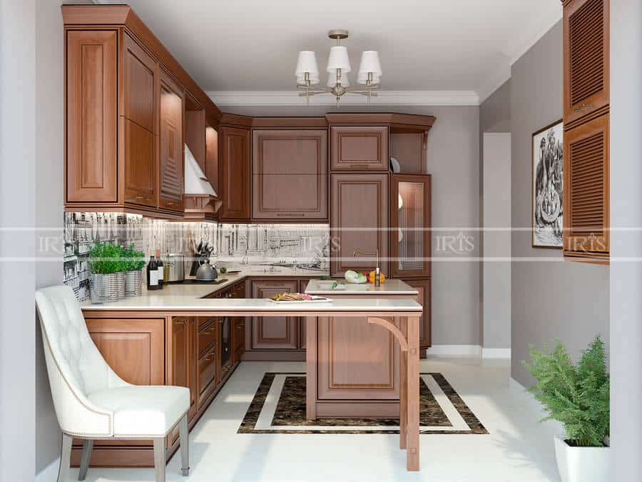 Kitchen Gỗ tự nhiên 08
