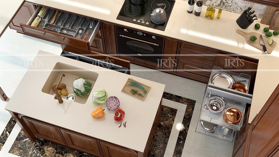 Thiết kế nội thất Phòng bếp Gỗ tự nhiên 09