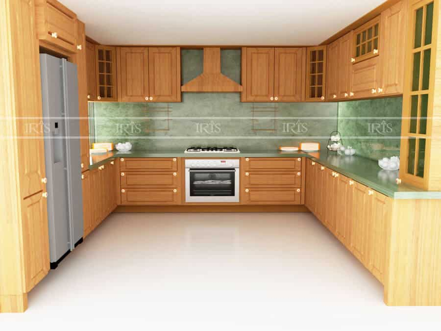 Thiết kế nội thất Phòng bếp Gỗ tự nhiên 20