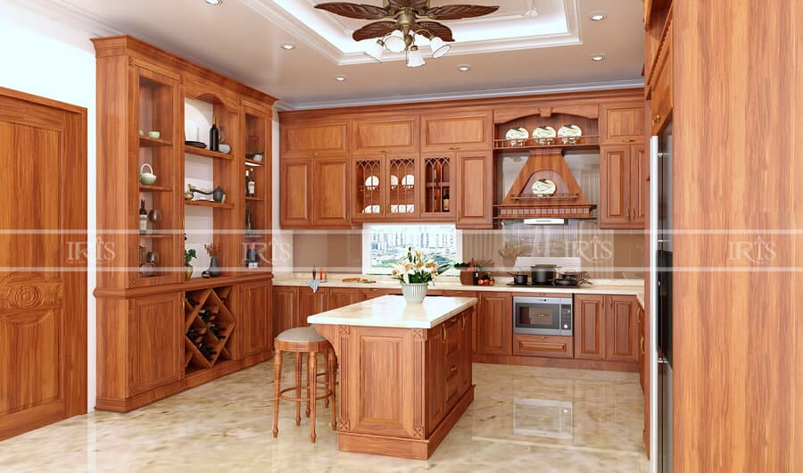 Thiết kế nội thất Phòng bếp Gỗ tự nhiên 35