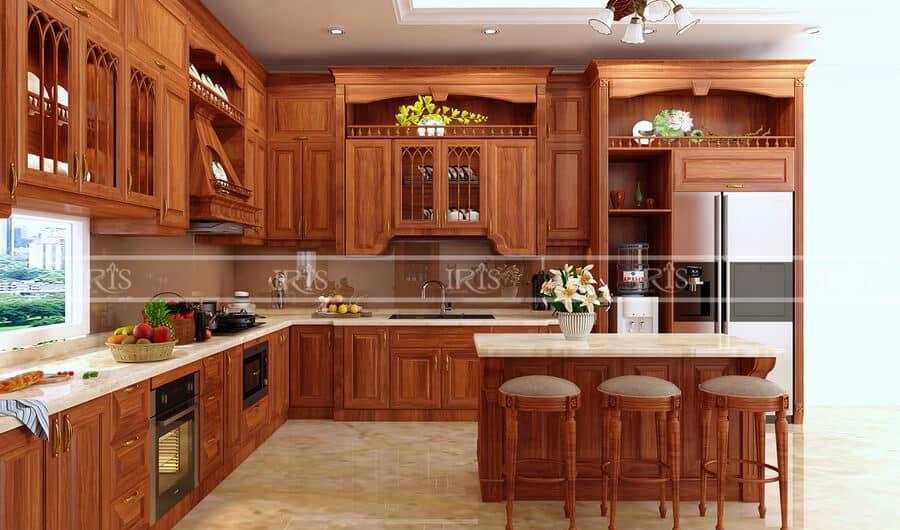 Kitchen Gỗ tự nhiên 36