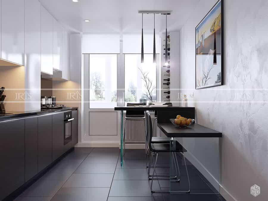 Thiết kế nội thất Phòng bếp minimalist 04