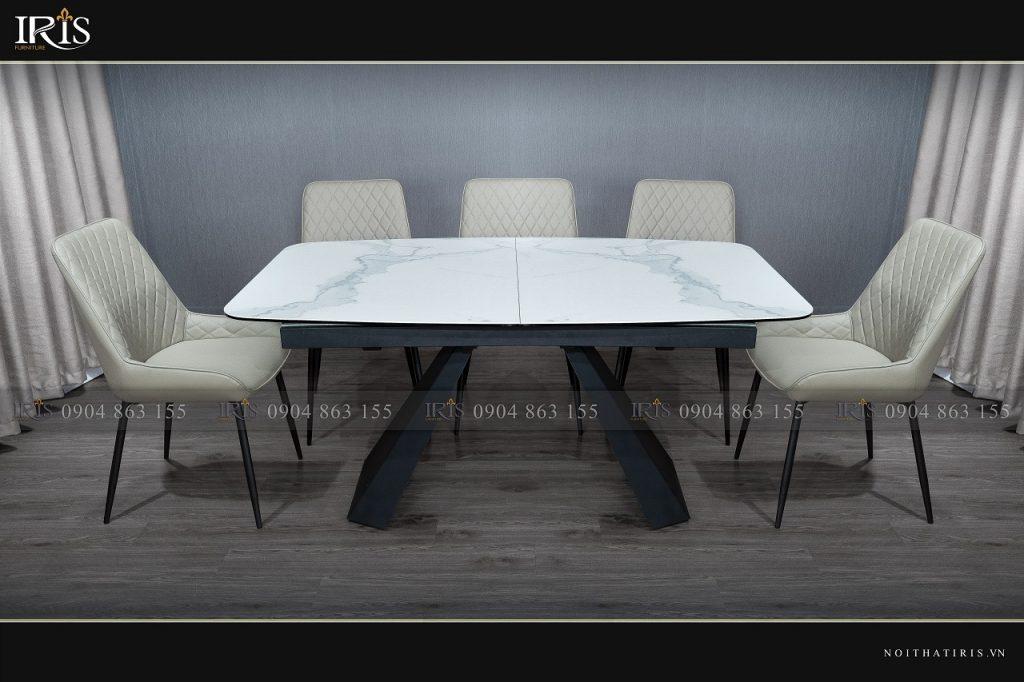 bàn ăn mặt đá gấp gọn