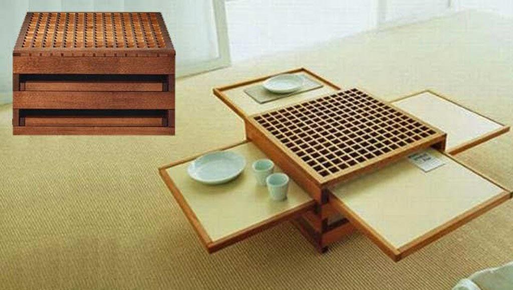 bàn ăn gấp kiểu Nhật