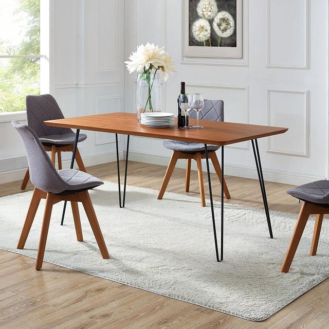 bàn ăn gỗ chân sắt