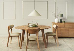 Bàn ăn gỗ nhỏ xinh – Điểm nhấn ưu việt cho nội thất phòng ăn