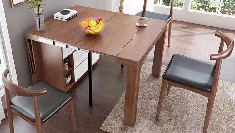bàn ăn gỗ thông minh gắn tường