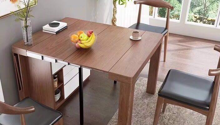 bàn ăn gỗ thông minh