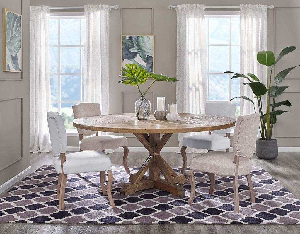 bàn ăn gỗ tròn