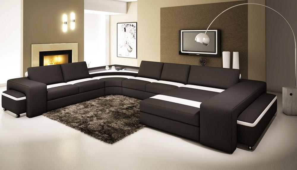 sofa da chữ u
