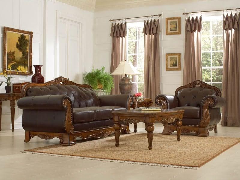 sofa da gỗ