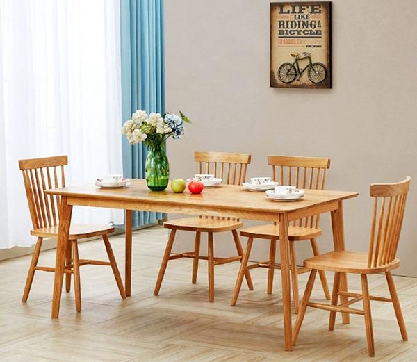 bàn ăn gỗ thông