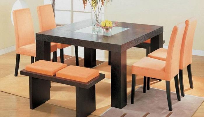 mẫu bàn ăn hình vuông cho nhà nhỏ