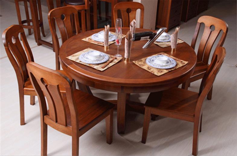 mẫu bàn ăn tròn gia đình