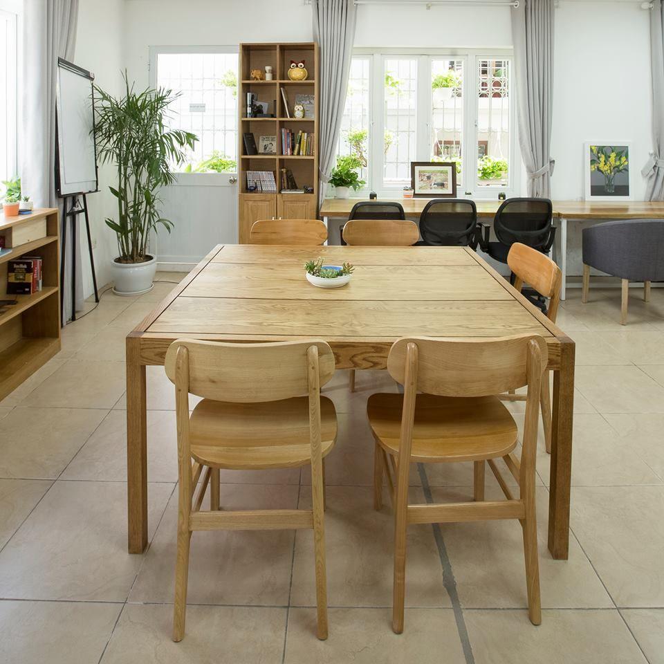 bàn ăn vuông gỗ